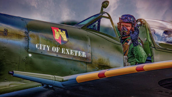 Photograph - City Of Exeter Spitfire by Chris Lord
