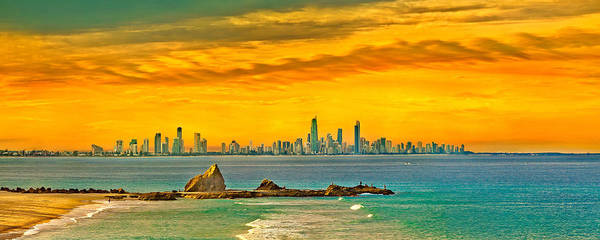 Beach City Photograph - City Of Gold by Az Jackson