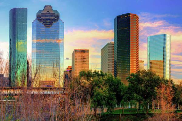 Photograph - City Of Houston Texas Skyline by Gregory Ballos