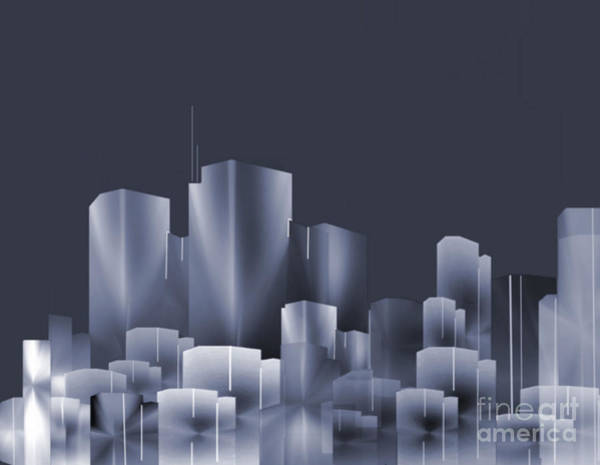 City Scape Digital Art - City Of Light 7 by John Krakora