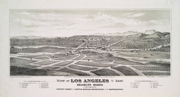Wall Art - Photograph - City Of Los Angeles 1877 by Ricky Barnard