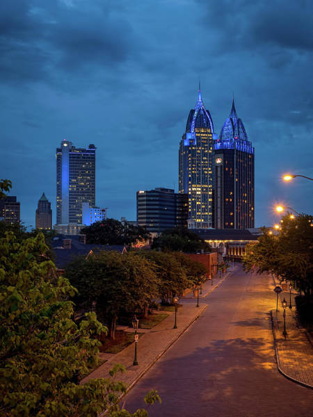 Photograph - City Of Mobile In Blue by Brad Boland