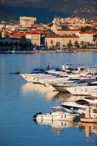 Powerboat Photograph - City Of Split In Croatia by Artur Bogacki