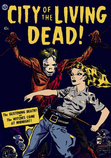 Digital Art - City Of The Living Dead Comic Book Poster by Joy McKenzie