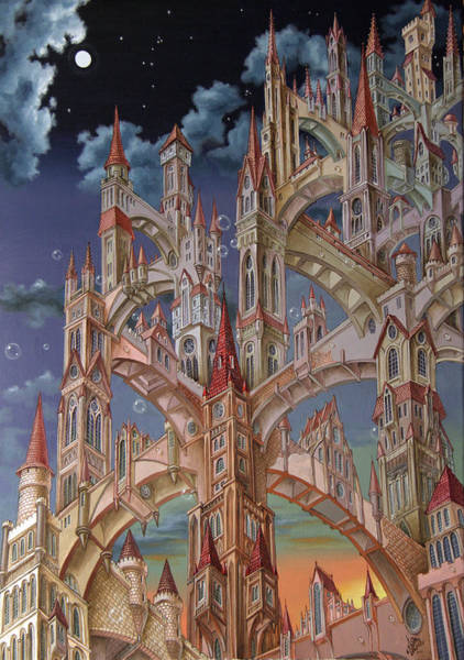Painting - City Of Wandering Towers by Victor Molev