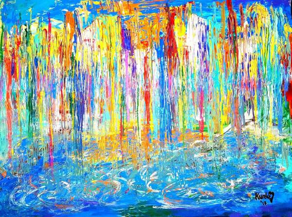Painting - City On Water by Adekunle Ogunade