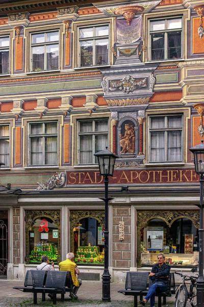 European Vacation Mixed Media - City Pharmacy Fussen by Capt Gerry Hare