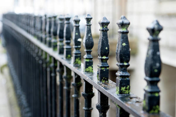 Photograph - City Railings by Helen Northcott