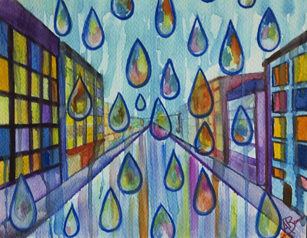 Painting - City Rain by Angelique Bowman