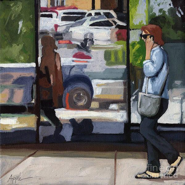 Wall Art - Painting - City Reflections - Columbus Ohio by Linda Apple