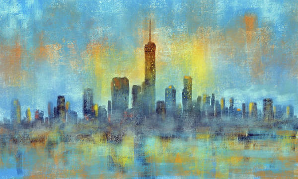 Wall Art - Digital Art - City Reflections by David G Paul