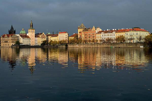 Photograph - City River Reflections - Prague by Stuart Litoff