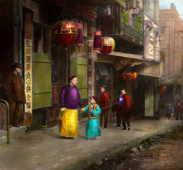 Photograph - City - San Francisco - Chinatown - Visiting The Commoners 1896-06 by Mike Savad