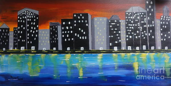 City Scape_night Life Art Print