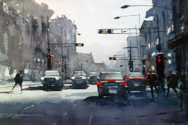 Traffic Painting - City Shadows 2 by Ryan Radke