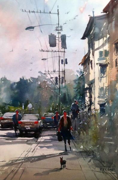 City Scene Painting - City Sidewalk by Ryan Radke