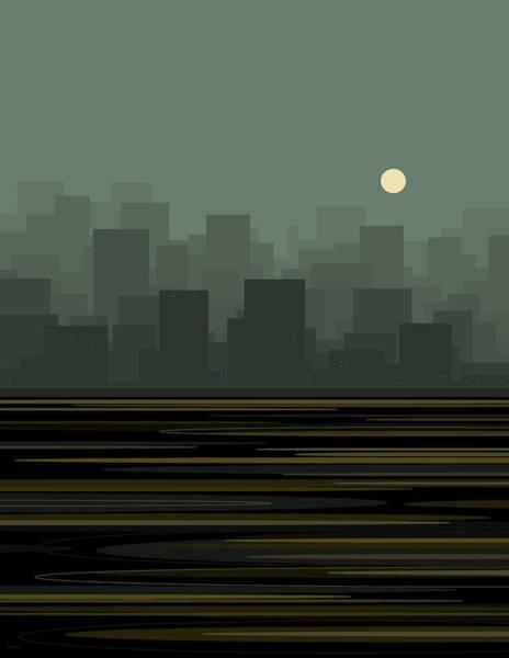 Digital Art - City Skyline by Val Arie