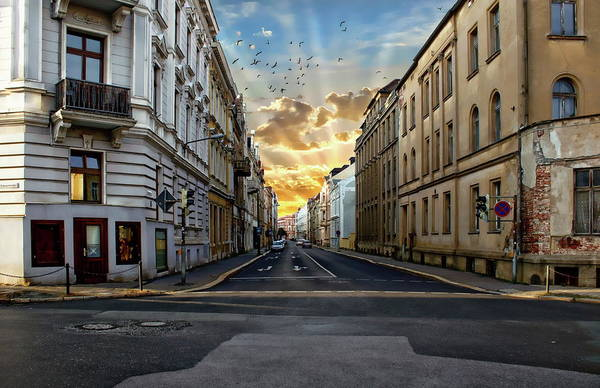 Photograph - City Street View by Anthony Dezenzio