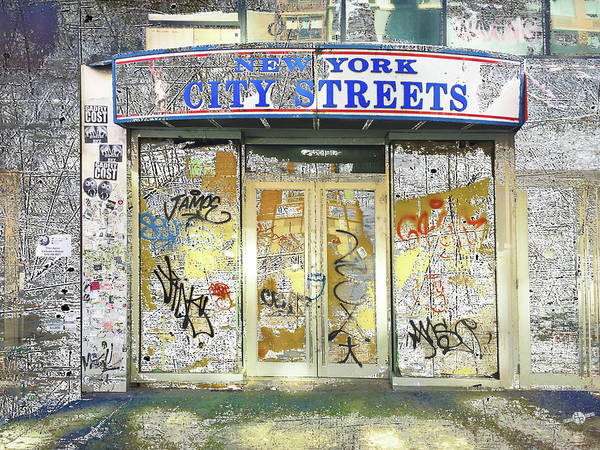 Mixed Media - City Streets by Tony Rubino