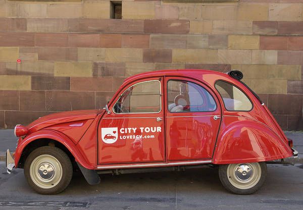 Wall Art - Photograph - City Tour Car Strasbourg France by Teresa Mucha