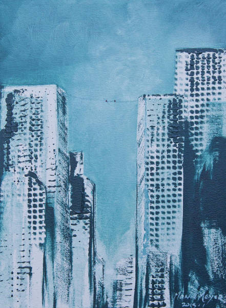 Trapeze Painting - City Trapeze by Melanie Meyer