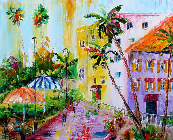 Painting - City Umbrellas by Kevin Brown