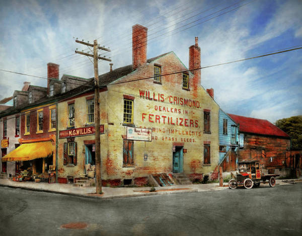 Photograph - City - Va - Willis And Crismond, Dealers In Fertilizers 1928 by Mike Savad