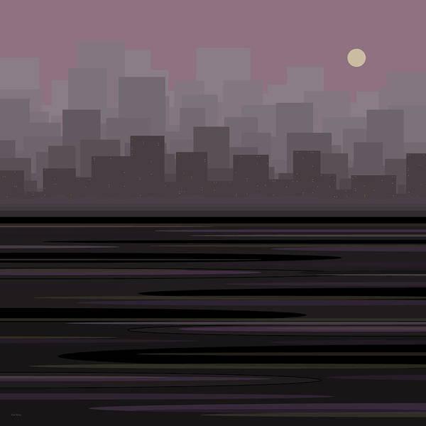 Digital Art - City by Val Arie
