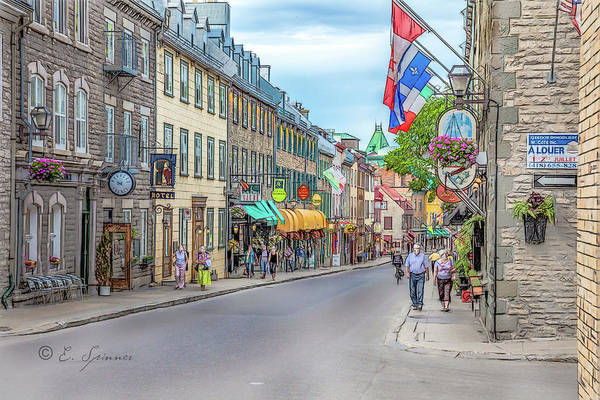 Quebec City Digital Art - Quebec City View 7 by Erwin Spinner