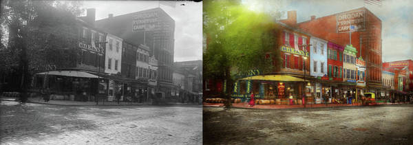 Photograph - City - Washington Dc - Life On 7th St 1912 - Side By Side by Mike Savad