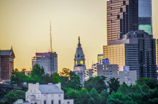 Cityhall Photograph - Cityhall In A Cityscape - Philadelphia by Bill Cannon