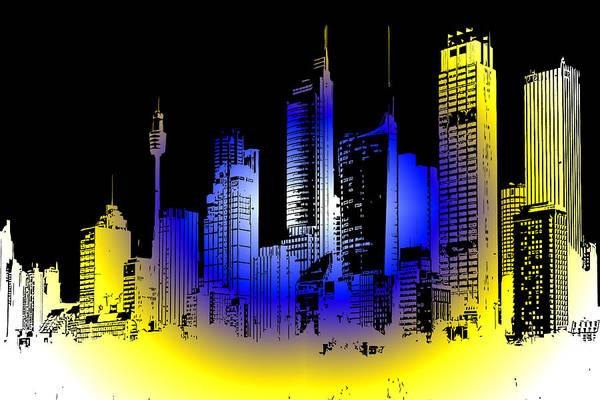 Granite Digital Art - Cityscape 1 by Evelyn Patrick
