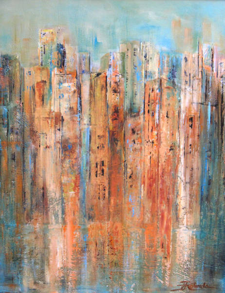Painting - Cityscape #3 by Roberta Rotunda