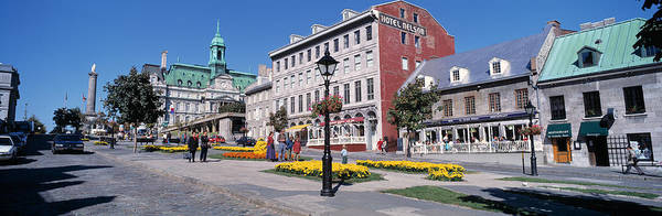 Old Montreal Photograph - Cityscape Montreal Quebec Canada by Panoramic Images