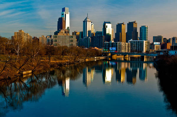 Cityscape Of Philadelphia Pa Art Print