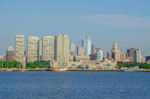 Photograph - Cityscape - Philadelphia View From Camden New Jersey by Bill Cannon