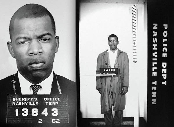 Wall Art - Photograph - Civil Rights Leader John Lewis Mugshot by Digital Reproductions