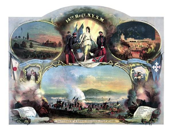 Military Painting - Civil War 14th Regiment Memorial by War Is Hell Store