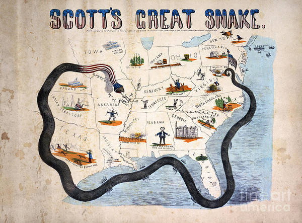 Photograph - Civil War: Anaconda Plan by Granger