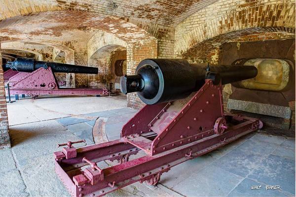 Low Battery Photograph - Civil War Artillery  by Walt  Baker