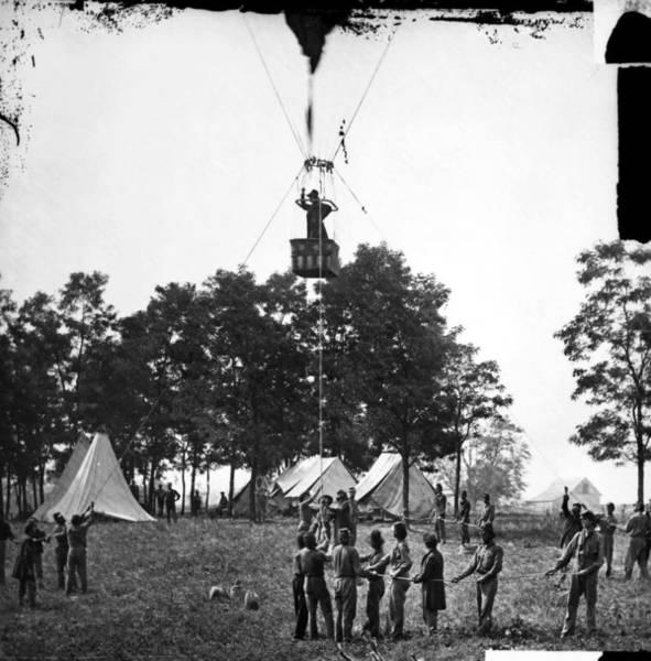 Photograph - Civil War: Balloon, 1862 by Granger