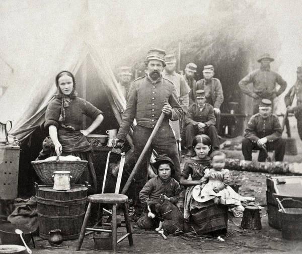 Wall Art - Photograph - Civil War: Camp Life, 1861 by Granger