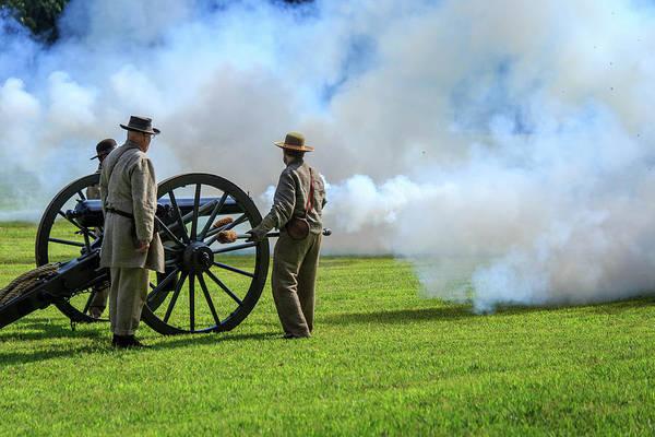 Photograph - Civil War Cannon Firing by Doug Camara