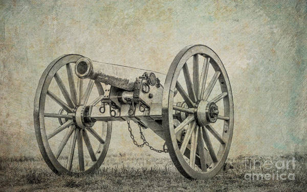 Civil War Cannon Gettysburg Sketch Art Print