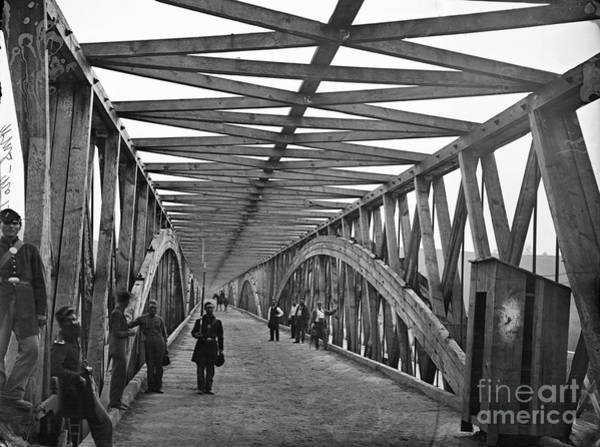 Photograph - Civil War - Chain Bridge by William Morris Smith