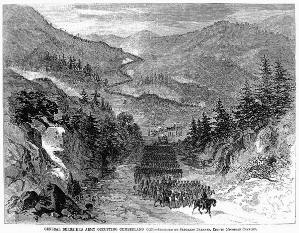 1863 Photograph - Civil War: Cumberland Gap by Granger