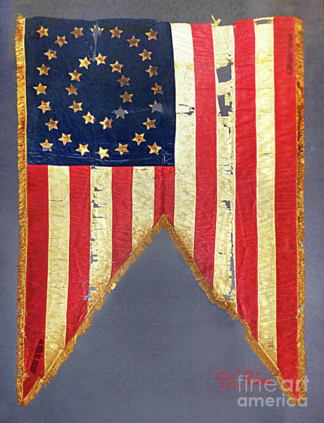 Us Civil War Mixed Media - Civil War Flag With 35-stars by To-Tam Gerwe