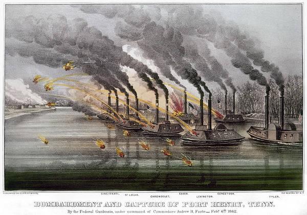 Wall Art - Photograph - Civil War: Fort Henry, 1862 by Granger