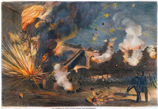 Wall Art - Photograph - Civil War: Fort Sumter 1861 by Granger