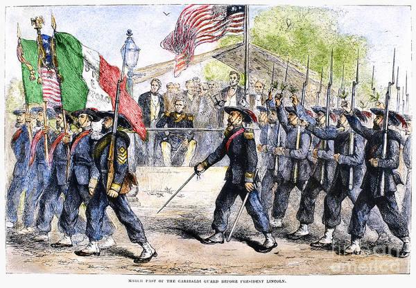 Italian Immigrants Wall Art - Photograph - Civil War: Garibaldi Guard by Granger
